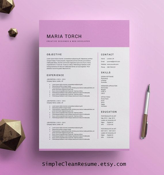 How To Write Up A Resume  Ider Om Cv Template Word P Pinterest  Resum Cv Och  Salon Resume Word with Retail Sales Resume Examples Word Modern Resume Template Word Instant Digital By Simplecleanresume Mental Health Technician Resume