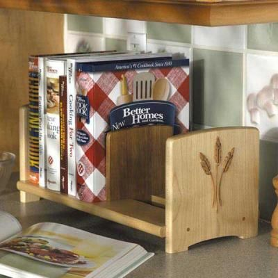 Kitchen Bookshelves for Cookbooks | Add spice to your kitchen countertop  with this adjustable cookbook .