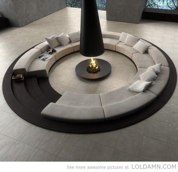 Simply amazing: Sunken Circular Sofa