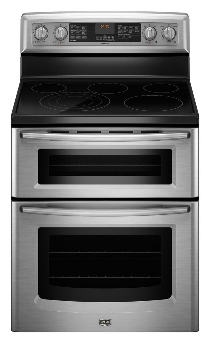 delightful Half Oven Kitchen Appliances #9: Double Oven Range. Bye-bye to half the stress at Thanksgiving and  Christmas. Smaller top oven saves on cooking fuel costs, too, as it handles  most daily ...