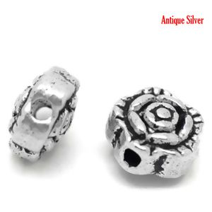"""Image of 100PCs Antique Silver Flower Spacer Beads 7x7mm28""""x28"""""""