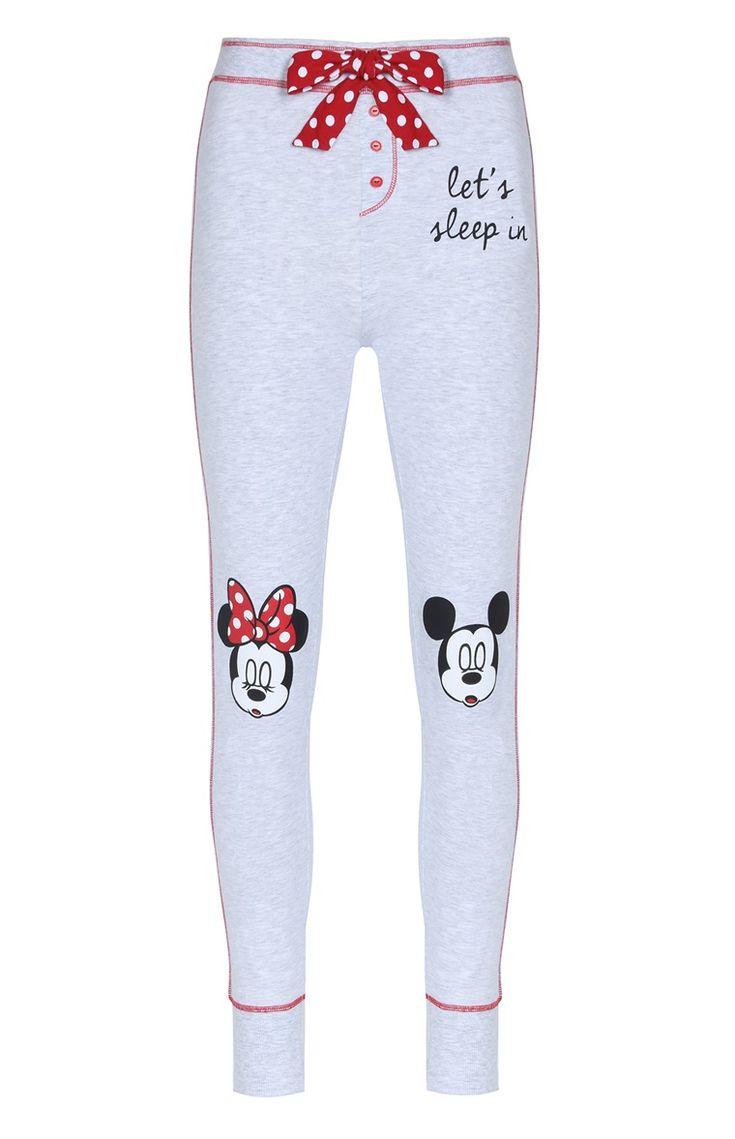 Legging de pyjama Mickey Mouse gris