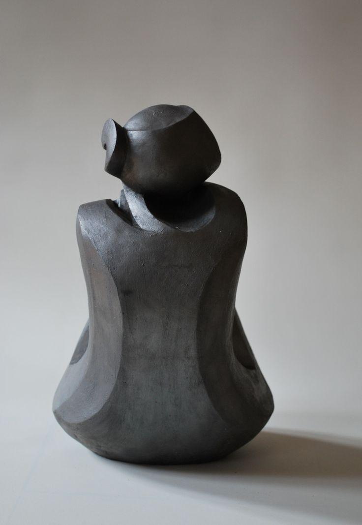 Artwork by Nyári Flóra - Girl, (2013) | Sculpture | Painted ceramic | Artstack - art online
