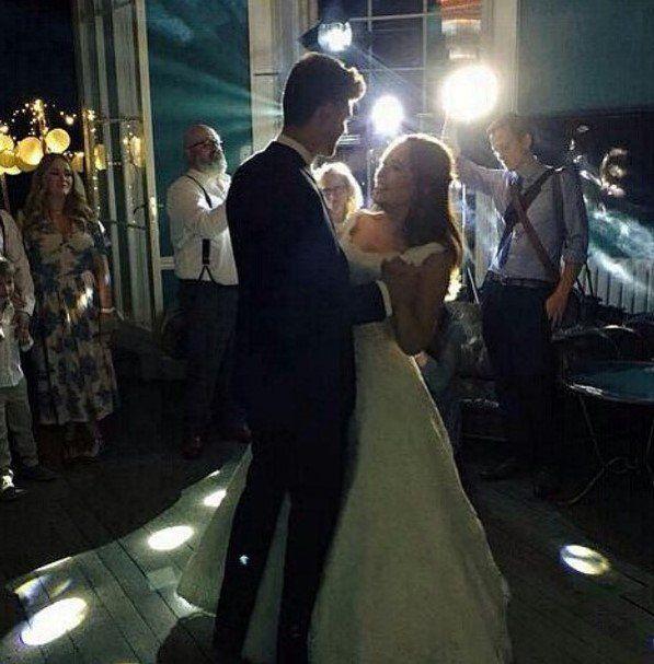 Jim and Tanya dancing.