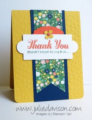 Flowerpot Designer Paper CASEd Card - Julies Stamping Spot -- Stampin Up! Project Ideas Posted Daily