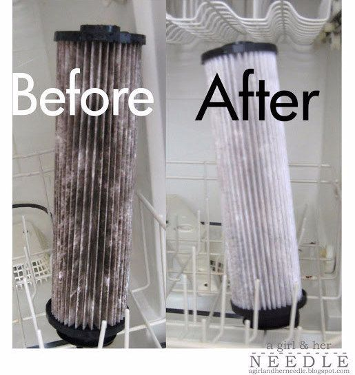 Clean your vacuum filters in the dishwasher. | 42 Seriously Useful Tips Every Clean Freak Needs To Know