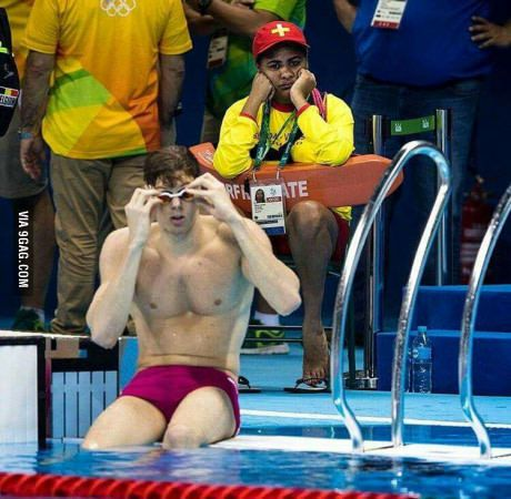 If you ever feel useless, just remember that there is a lifeguard at the swimming Olympics.