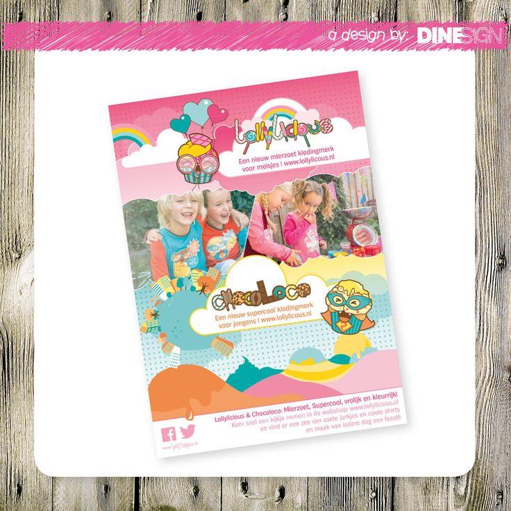#flyer #design #lollylicious  www.dinesign.nl