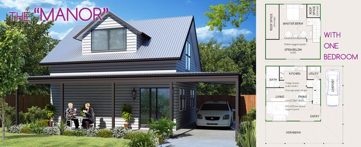 The Manor - Lifestyle Granny Flats. Enjoy loft living in the suburbs with this stylish #grannyflat design.