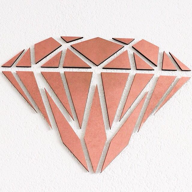 Wooden Diamond. Te bestellen via Kroft Design,€14,95