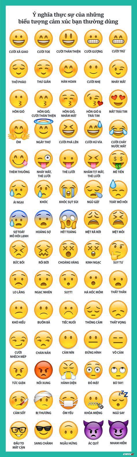 Đây chỉ là một vài biểu tượng cảm xúc điển hình trong thế giới của hàng ngàn icon trên mạng.