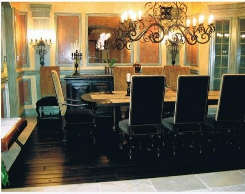 Add Some Color To Your Dining Room Check Out The Great Chandelier