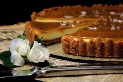Kakkuviikarin vispailuja!: Salted caramel cheesecake-piirakka
