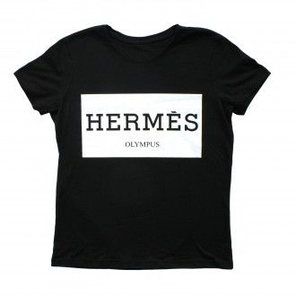 Hermes Olympus Black Women t-shirt