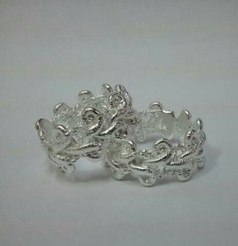 Silver Textile Ring