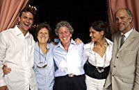 John Malkovich, Chiara Caselli, Liliana Cavani, Ileen Maisel, and Dougray Scott at an event for Ripley's Game (2002)