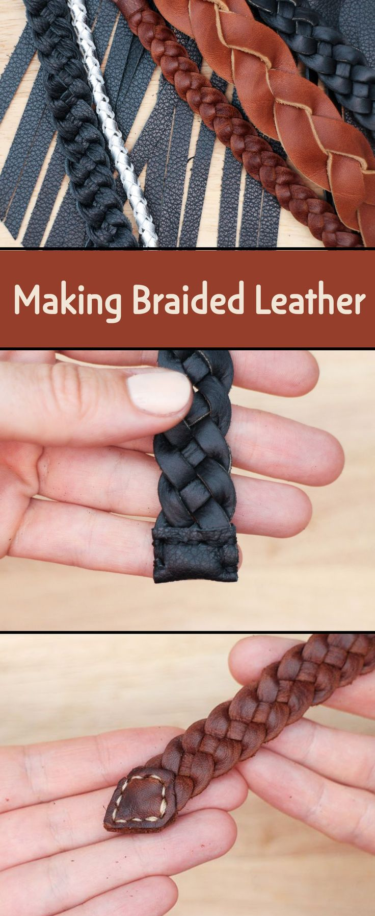 Leather is a great material for braiding and weaving. It is soft and pliable and can be cut easily into different numbers of strands.
