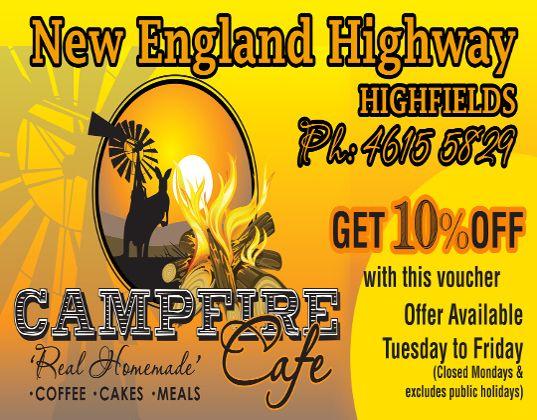campfire cafe highfields