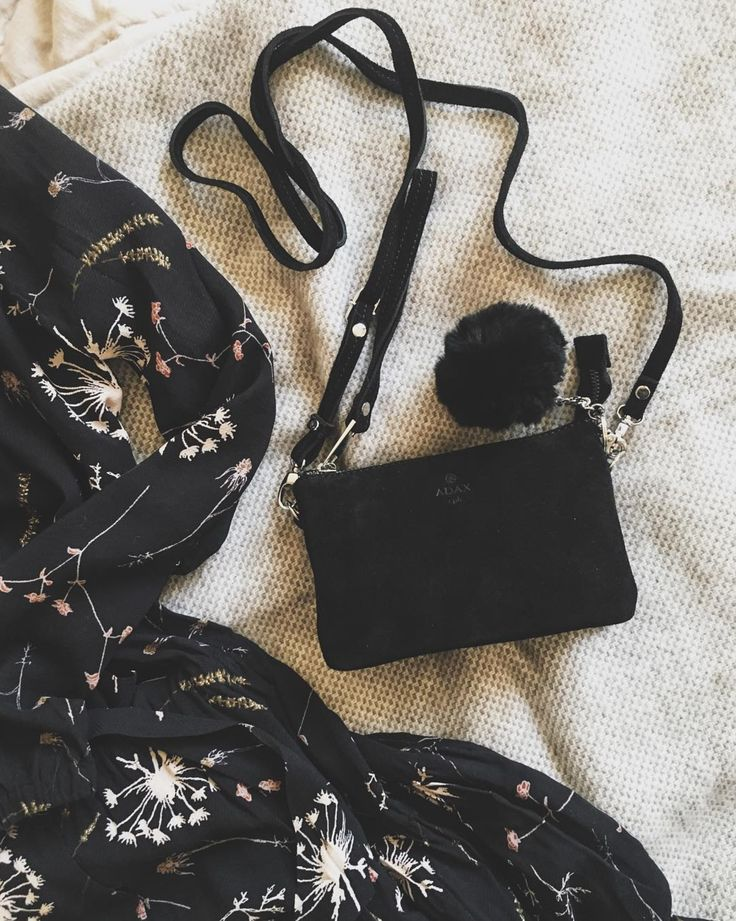 The Petit and practical Dagmar bag in black suede. Click on pic for more!
