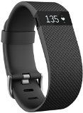 #10: Fitbit Charge HR Wireless Activity Wristband Black Large