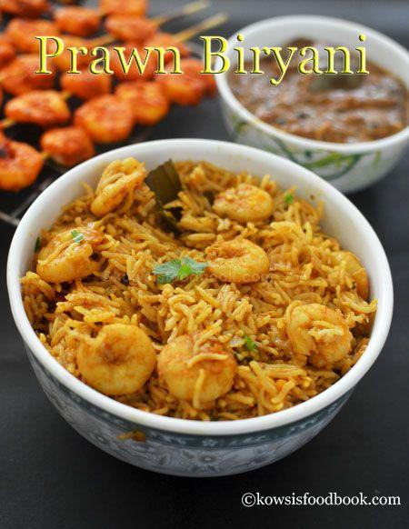 Prawn Biryani Recipe, Spicy Prawn Biryani - Learn how to make spicy prawn biryani with step by step pictures