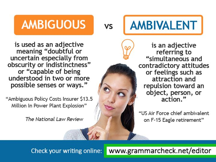 Ambiguous or ambivalent? Writing lessons, English idioms