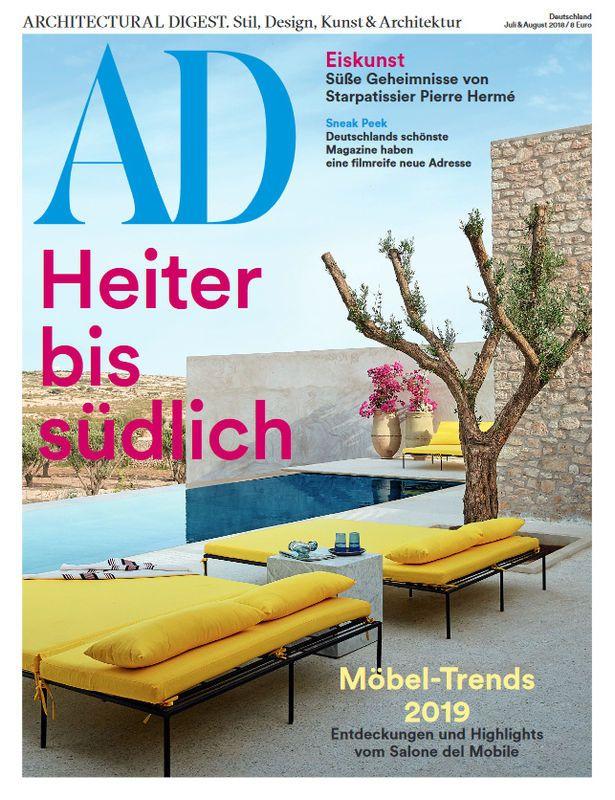 Ad Architectural Digest 8 2018 Heiter Bis Sudlich Architectural Digest Architektur Design