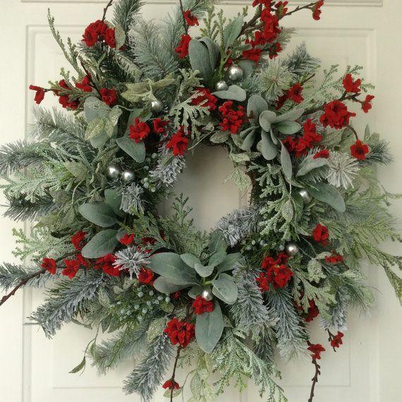 Christmas Wreath-Winter Wreath-Holiday Wreath-Elegant Holiday Wreath-Christmas Wedding-Designer Wreath-Elegant Holiday Wreath-Frosted Wreath