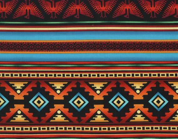 Fat Quarter, Southwestern Fabric, Southwest by Timeless Treasures, Terra, Indian print, 10181