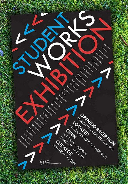 Art Exhibition Poster by Jonathan Vo, via Flickr