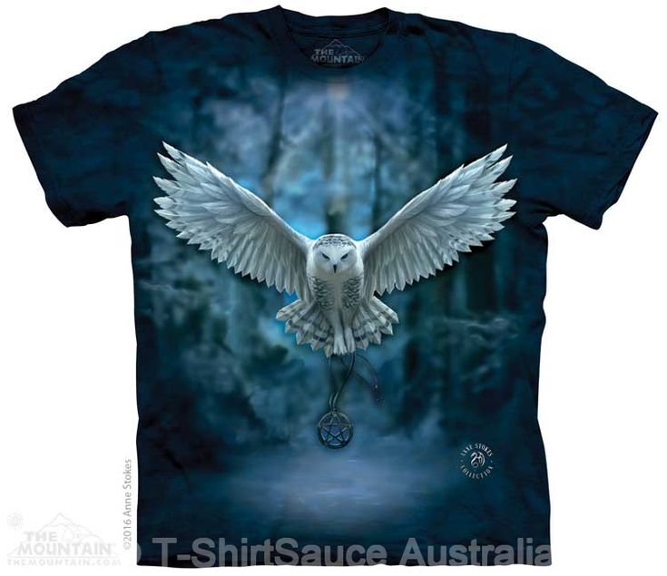 Awaken Your Magic Owl Adults T-Shirt by Anne Stokes : The Mountain - 2017 Collection : T-Shirtsauce Australia: The Mountain T-Shirts