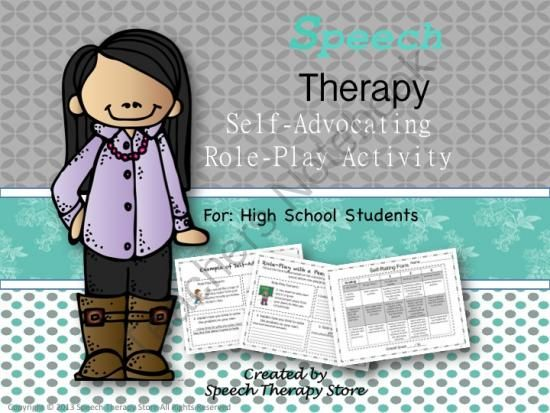 Speech Therapy Self-Advocacy Role Play Activity for High School Students from Speech Therapy on TeachersNotebook.com -  (19 pages)  - Speech Therapy Self-Advocacy Role Play Activity for High School Students