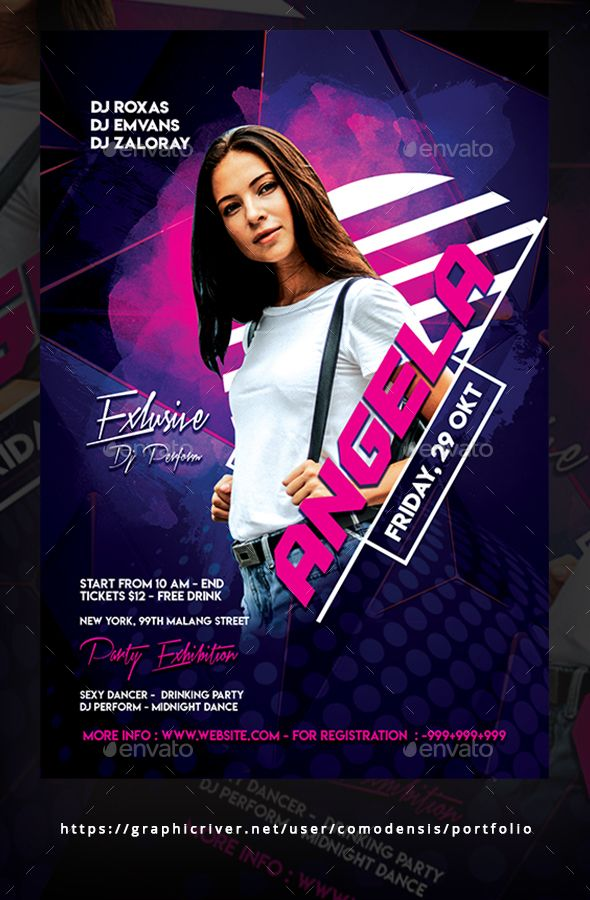 Guest Dj Party Flyer Template Psd Easy To Use All Text Editable