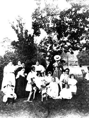 Tea party in the Helmcken garden