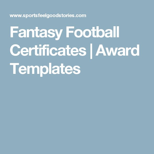 The 25 best award template ideas on pinterest award templates fantasy football certificates award templates yelopaper