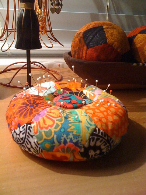 Pin Cushion and Soft Balls by dragonflyquiltworks, via Flickr