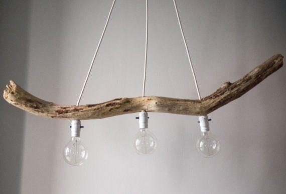Luminaire bois flotté/ Driftwood lamp ''Le Suspendu''