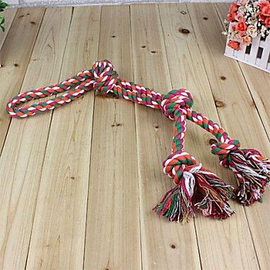 corda áspera durável com quatro nós mastigar brinquedos para cães (cor aleatória) – BRL R$ 10,34