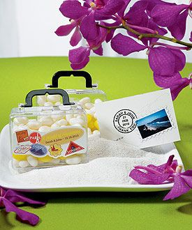 Miniature Travel Suitcase Container, 13.44 for 6 - for mom's 60th bday party