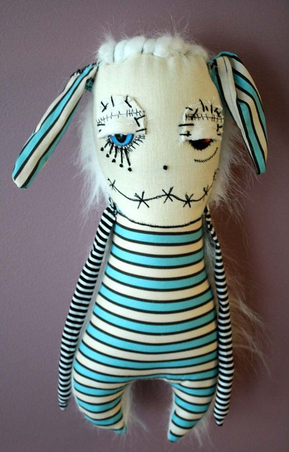 Henwig the Monster Art doll Plush By ThEm DoLLz by themdollz