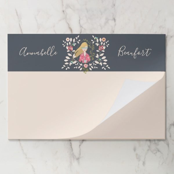 Blonde Long Hair Girl - Selfie Portrait Paper Pad Custom office supplies #business #logo #branding