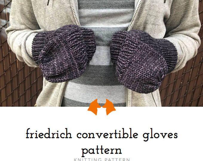 Knit Glove Pattern Convertible Gloves Pattern Convertible Mitten