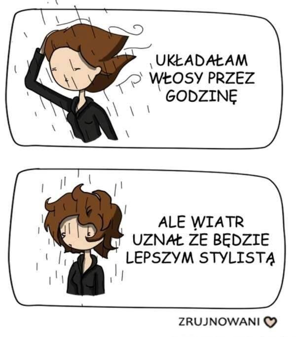 wiatr i włosy :)