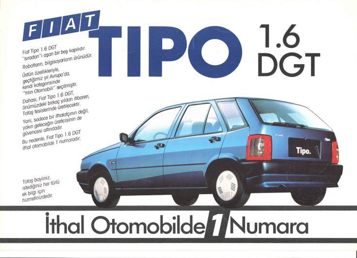 1989 Fiat Tipo Turkish Catalog Page 1/2 - 1989 Fiat Tipo Türkçe Katalog Sayfa 1/2