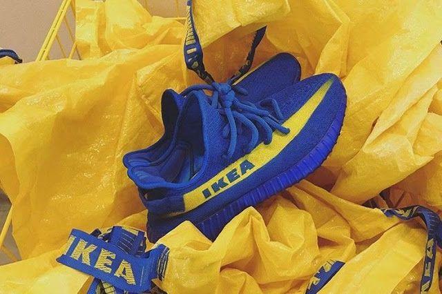 Las zapatillas Yeezy IKEA Boost hacen  referencia a la identidad de marca de la multinacional