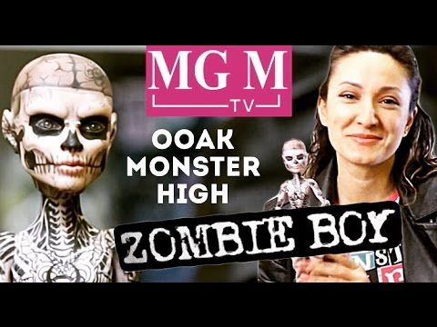 Zombie Boy Зомби Бой ООАК Рик Дженест (Rick Genest) OOAK Monster High doll