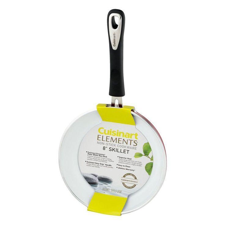 Cuisinart 8 in. Nonstick Ceramic Skillet - Red - 208B517B506C4D36B6F8EE52C51619D5