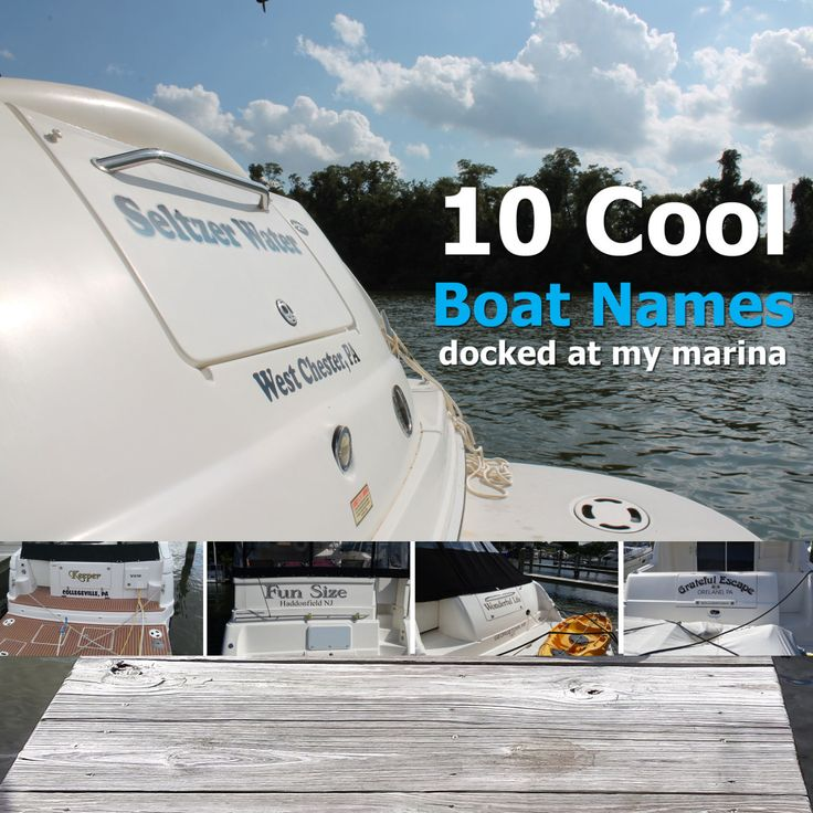 a photo roundup of 10 cool boat names (with beautiful boat pictures) found at my marina - see the 10 names with the meaning behind choosing some of the boat names.