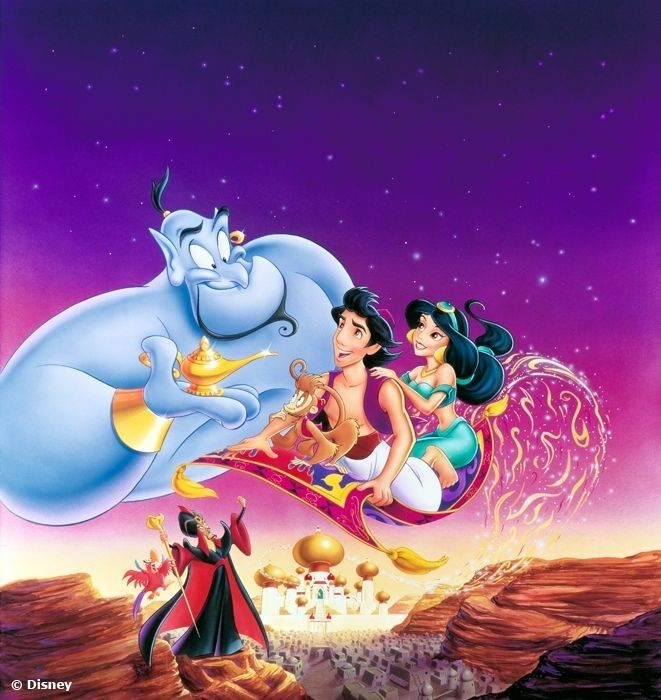 Disneys Aladdin Genie Jasmine Abu And Jafar