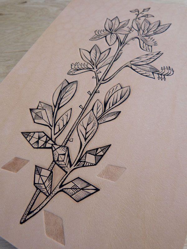 Geometric flower stem (5), £75.00